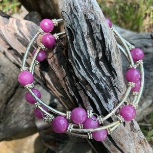 ❤️Hot Pink Genuine Jasper Bracelet❤️